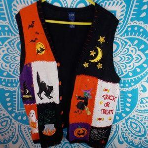Halloween Sweater Vest 2X Plus Size Fall Fun